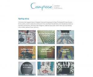 Compose: A Journal of Simply Good Writing, Spring 2013 issue